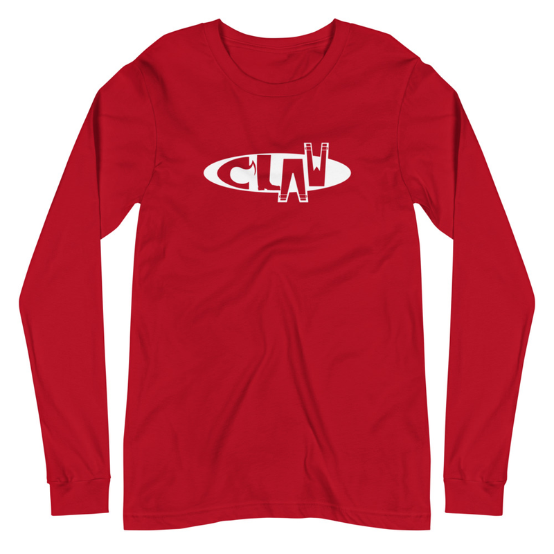 Red Long Sleeve Tee - CLAW Logo